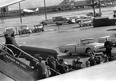 ST-527-11-63. Transfer of President John F. Kennedy's Casket to Air Force One - John F. Kennedy Presidential Library & Museum