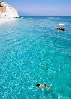 Swimming in paradise! Lalaria beach, Skiathos
