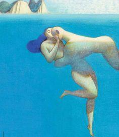 Lorenzo Mattotti (Italian, 1954)  Nell'acqua, 2001  Color pencil and pastel on paper
