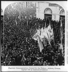 Patriotic Demonstrations – bound for the palace, 1897 - Photographs of Athens in the Late and Early Century Best of Web Shrine Still Picture, As Time Goes By, In Ancient Times, Athens Greece, Vintage Photographs, Back In The Day, Digital Image, Old Photos, The Past