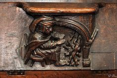 Papi se chauffe... Small Wooden Shelf, Petite Console, Mercy Seat, Religious Architecture, Art Society, Cathedral Church, Medieval Manuscript, The Monks, Iglesias