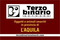 Oggetti e animali smarriti in provincia di L'Aquila