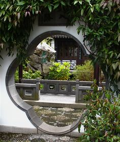 A gate at a Chinese garden residence, most of them were built during the Ming Dynasty more than 300 years ago.