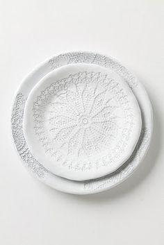 doily white dishes