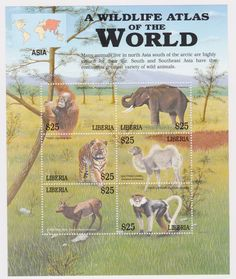 Liberia | Wildlife Atlas of the World, Asia, 2001 | S/H
