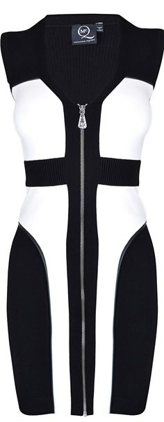Alexander McQueen ●  Contrasting Panel Dress