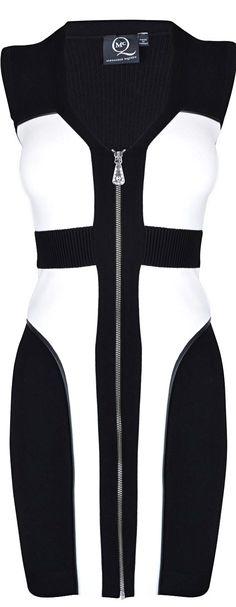 Alexander McQueen ●  Contrasting Panel Dress