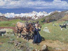 Giovanni Segantini, La raffigurazione della Primavera