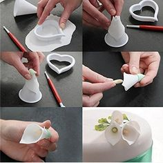 Make beautiful flowers and leaves with these flower cutters. High quality plastic cutters are perfect for finishing off your sugar flowers. Use with matching petal cutters to create striking flowers, ideal for wedding cakes and celebrations. Cutters are available for hundreds of flowers and... - http://kitchen-dining.bestselleroutlet.net/product-review-for-miki-1316-calla-lily-former-set-7-pieces-flower-modelling-cutter-gum-paste-flowers-cake-decorating-kit-sugarcraft-fondan