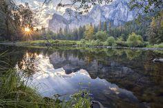 Sunrise at #Yosemite National Park in California.