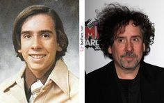 Tim Burton then & now. I'm not sure which one is scarrier hahaha jk but I think he actually looks better now..