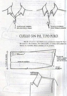 cello polo no base collar Patterns Of Fashion, Pattern Fashion, Clothing Patterns, Pattern Making Books, Shirt Collar Pattern, Sewing Collars, Tailoring Techniques, Baby Girl Dress Patterns, Pin On