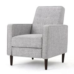 Shop for Mervynn Mid-Century Button Tufted Fabric Recliner Club Chair by Christopher Knight Home. Get free delivery at Overstock.com - Your Online Furniture Shop! Get 5% in rewards with Club O! - 21532548