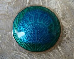 Liberty & Co Sterling Silver & Enamel Button with Peacock Design in Antiques, Sewing (Pre-1930), Buttons | eBay