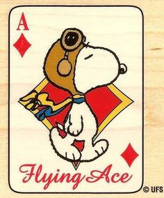 Peanut Snoopy Flying Ace Wood Mounted Rubber Stamp Stampabilities New Peanuts Cartoon, Peanuts Snoopy, Cartoon Dog, Snoopy Love, Snoopy And Woodstock, Snoopy Tattoo, Ace Card, Flying Ace, Joe Cool