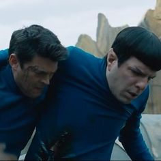"It looks like the crew gets separated on a strange and foreign planet after they escape the Enterprise in evacuation pods. | The Trailer For ""Star Trek Beyond"" Shows The USS Enterprise Being Destroyed"