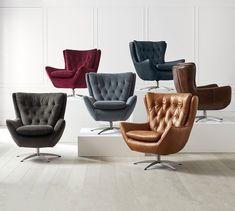 Wells Upholstered Swivel Armchair - New Site Upholstered Swivel Chairs, Swivel Armchair, Eames Chairs, Sofa Chair, Modern Armchair, Chair Cushions, Modern Swivel Chair, Chair Upholstery, Chair Pads