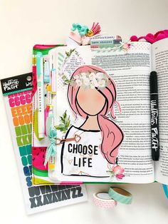 Hybrid Print and Pray Bible Journaling by Cristin Howell using digital printables | Choose Life