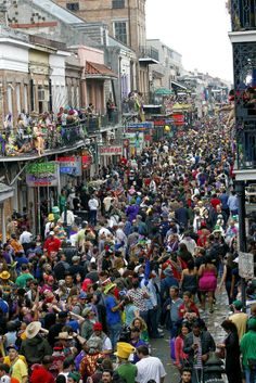 Mardi Gras in New Orleans. Bourbon Street March 2014