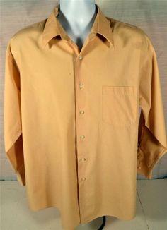 Alexander Julian Colours Men's Size XL 17 32/33 Beige Dress Shirt