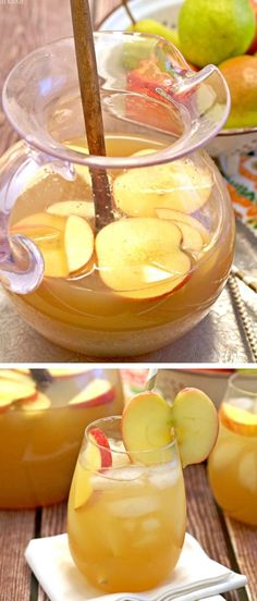 Apple Pie Punch is the perfect drink for fall/Thanksgiving! Easily made into a non-alcoholic version!