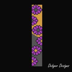l Bead Loom Designs, Bead Loom Patterns, Bracelet Patterns, Beading Patterns, Seed Bead Jewelry, Seed Beads, Beaded Jewelry, Beaded Bracelets, Tapestry Crochet