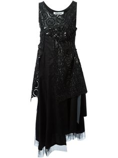 Comme Des Garçons Noir Kei Ninomiya Layered Macrame Dress - Restir - Farfetch.com