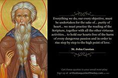 Orthodox Quote of the Day | St. John Cassian | orthodoxquoteoftheday.com