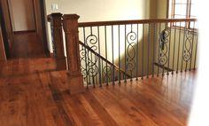 stained hickory hardwood floors