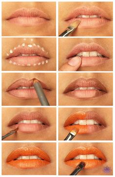 Top 10 Tutorials for Perfect Lipstick. You mean just fumbling around driving down the road & grabbing my lipstick & stuffing it on & hoping I don't look like a Clown isn't the preferred method? by dorothyconway Lip Tutorial, Lip Makeup Tutorial, Lipstick Tutorial, Makeup Tutorial Foundation, Diy Lipstick, Orange Lipstick, How To Apply Lipstick, Bright Lipstick, Bold Lips