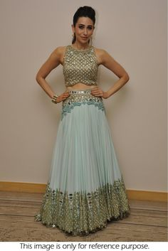 Bollywood Style Karishma Kapoor Net and Georgette Lehenga In Sky Blue Colour NC886
