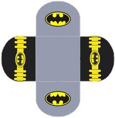 Batman: Free Printable Labels, Free Party Printable and Box.