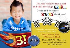 Fast Wheels - Hot Matchbox Car - Super cute Printable Birthday Party Invitation - only by - Any age!