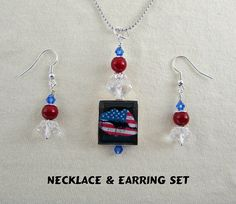 Scrabble Jewelry  US Flag Lips  Patriotic  by MaDGreenCreations, $12.95