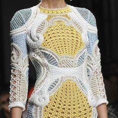 modern futuristic wool knitwear pullover