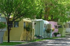 now heres a nice looking trailer park. why can't they all look so sweet?