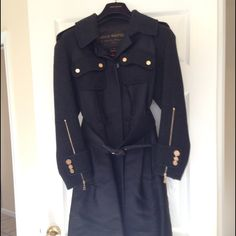 Authentic Louis Vuitton collectors coat This Louis Vuitton military style jacket (size 36, fits size small) was wore only twice. There were only 1,200 made worldwide. It was bought in 2006 and all proceeds go towards the medial care for Abelina Magana Louis Vuitton Jackets & Coats