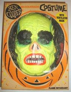 1965 Ben Cooper Universal Phantom of the Opera Lon Chaney Mask & Costume in OB