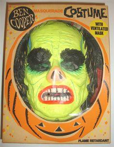 1965 Ben Cooper Universal Phantom of the Opera Lon Chaney Mask & Costume in OB