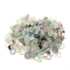 Sale 25% (2.99$) - 50g Natural Fluorite Quartz Stone Gravel Chip Polished Specimens DIY Findings