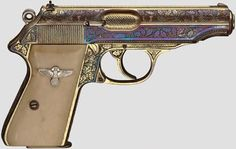 A Walther PP, ZM, honorary weapon of Oberst (Colonel) Walter Oesau, luxury… Walther Pp, Pocket Pistol, Cool Guns, Guns And Ammo, Self Defense, Shotgun, Firearms, Hand Guns, Survival