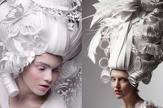 Asya Kozina's paper wigs cannot be ignored, as each piece is unique, complex and perplexing to see
