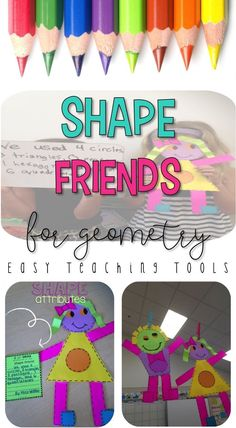 Are you looking for something fun to combine what your students know about different shapes and their attributes? Simple Math, Easy Math, 4th Grade Classroom, Kindergarten Classroom, Math Games, Math Activities, Teaching Tools, Teacher Resources, Teaching Ideas