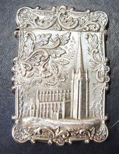 american silver castle top card case antiques atlascom