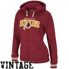 472cb118e  fanatics Mitchell   Ness Washington Redskins Ladies Burgundy Arch Rivals Full  Zip Hoodie Sweatshirt