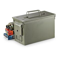 Military-style .50 cal. Ammo Can use shoe boxes as ammo boxes and 3cfec7ddfea