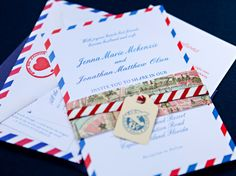 Very cute destination/travel themed wedding invitations
