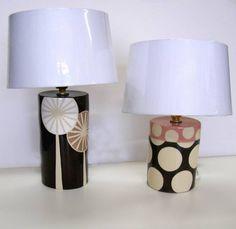 ken eardley: ceramic lamp bases - dandelion & 2 spot