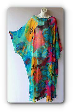 Hand made Silk Kaftan - African fashion African Maxi Dresses, Latest African Fashion Dresses, African Print Fashion, African Attire, Fashion Sewing, Kimono Fashion, Fashion Outfits, Abaya Fashion, Women's Fashion