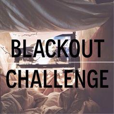NEW POST   BLACK OUT CHALLENGE  http://klassykalifornian.blogspot.com/2014/11/blackout-challenge.html